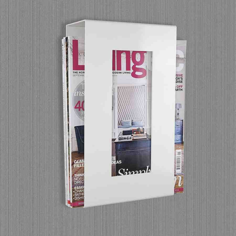 Uncategorized White Wall Mounted Magazine Rack bathroom magazine rack wall mount more
