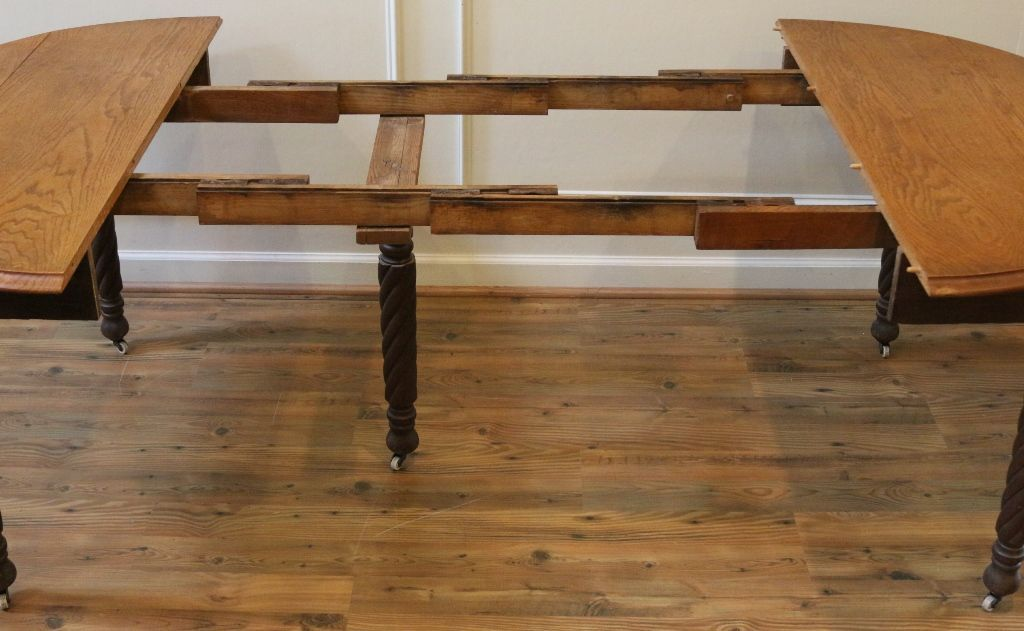 Antique Dining Table American Oak Round Drop Leaf Extending From Streetsoflondonantiques On Ruby Lane Antique Dining Tables Round Extendable
