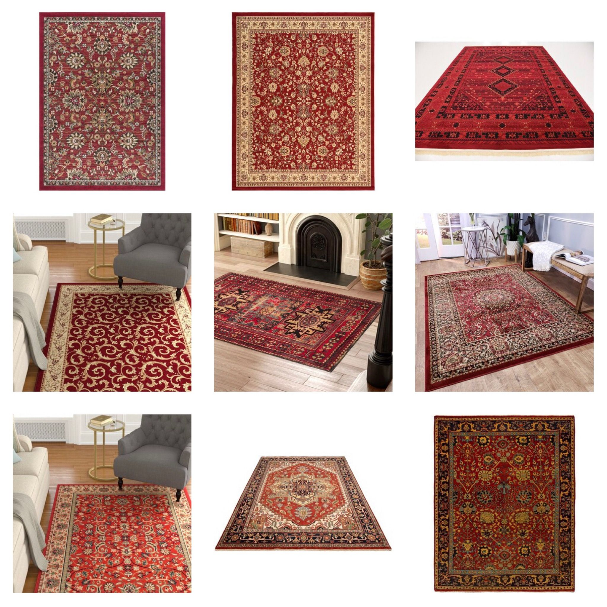 White Bedroom Ideas With Wow Factor: A Red Area Rug Can Bring The Wow Factor To Any Room