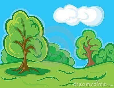 Cartoon Forest Landscape Forest Landscape Forest Cartoon Cartoon Background