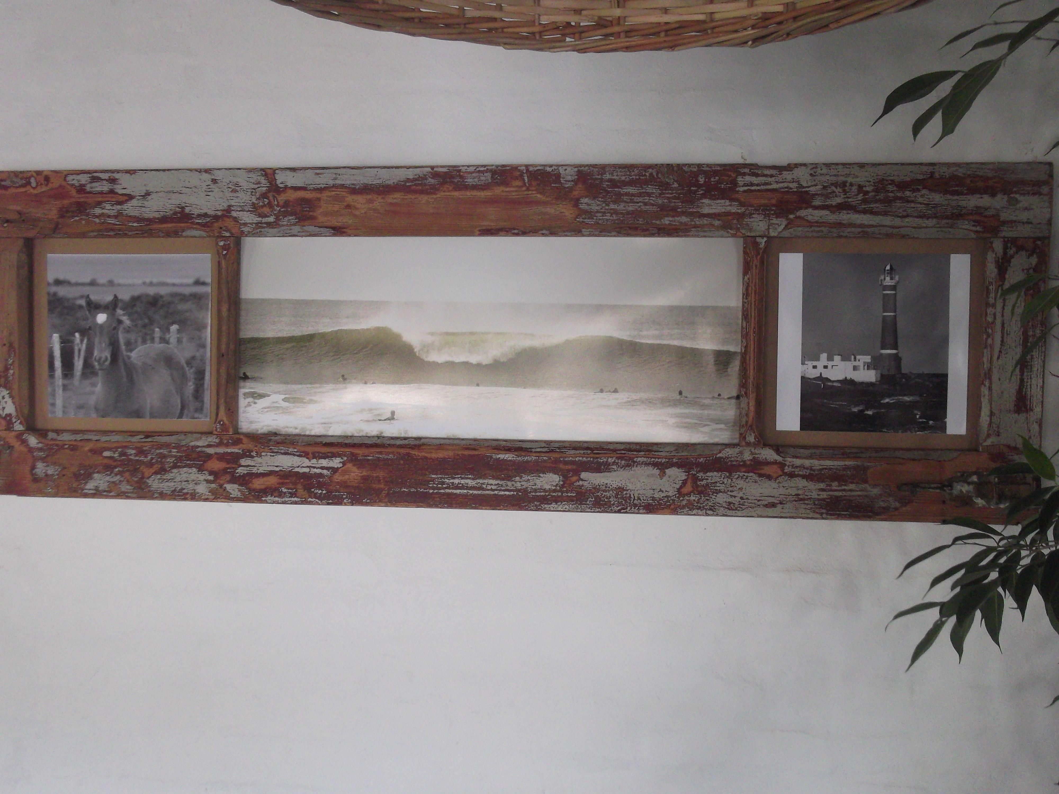 Marco para fotos con puerta antigua reciclada. | Muebles de ...