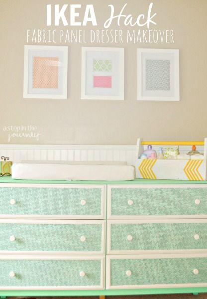 IKEA Hack: Eine Mintgrüne Tarva Kommode bringt Farbe in deine Wohnung und peppt sie auf.