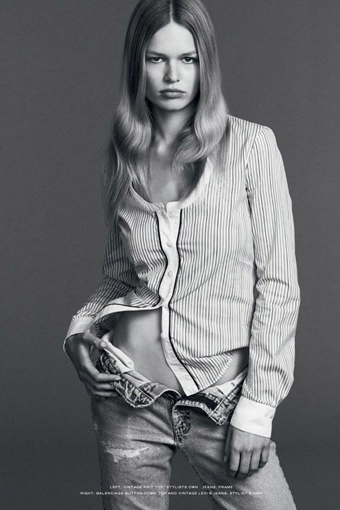 1adb13860c3 Top model Anna Ewers is paid a great compliment by Bruce Weber in the  latest edition of Industrie Magazine. Photographer Erik Torstensson  captures Anna in ...