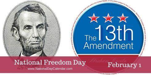 National Freedom Day February 1 National Day Calendar Freedom Day February 1