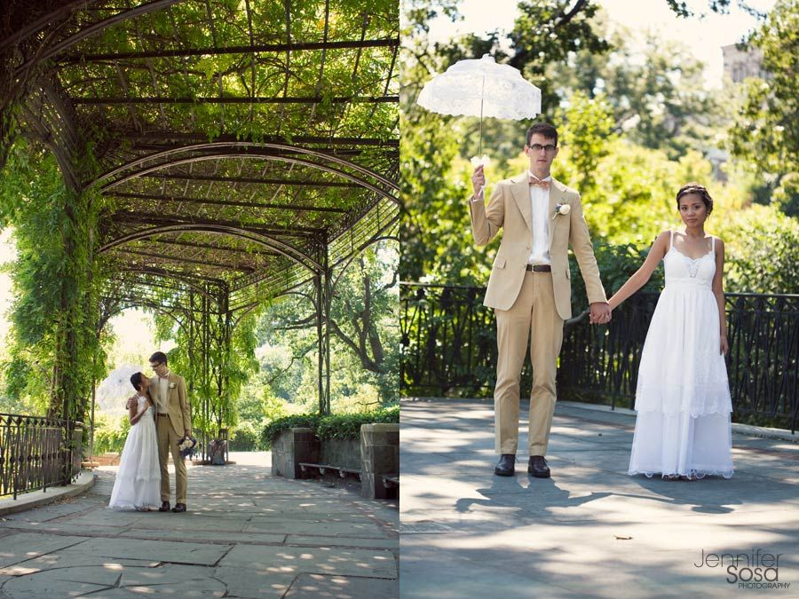 Lovely Conservatory Garden Wedding Nyc