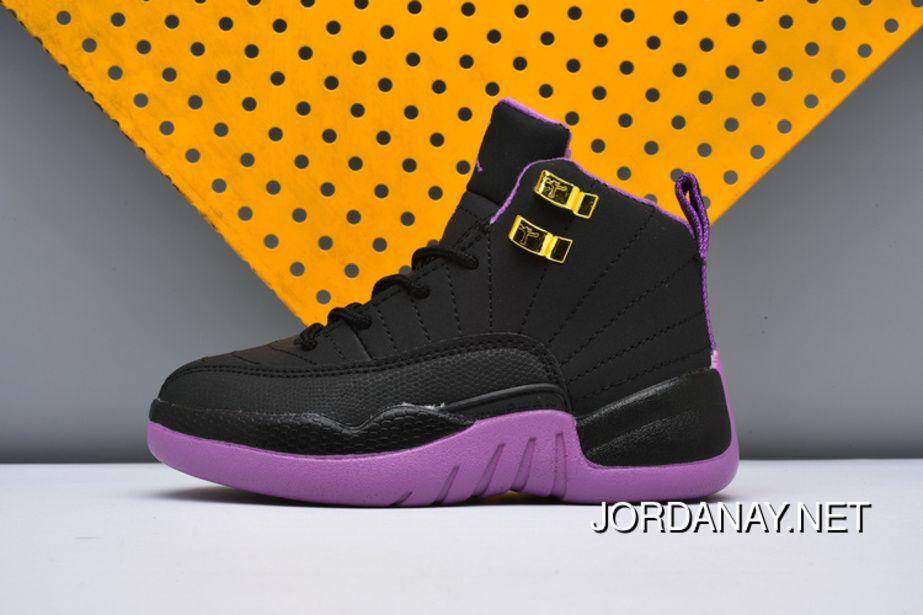 dcce23ac265956 https   www.jordanay.net kids-nike-air-jordan-12-black-purple-new ...