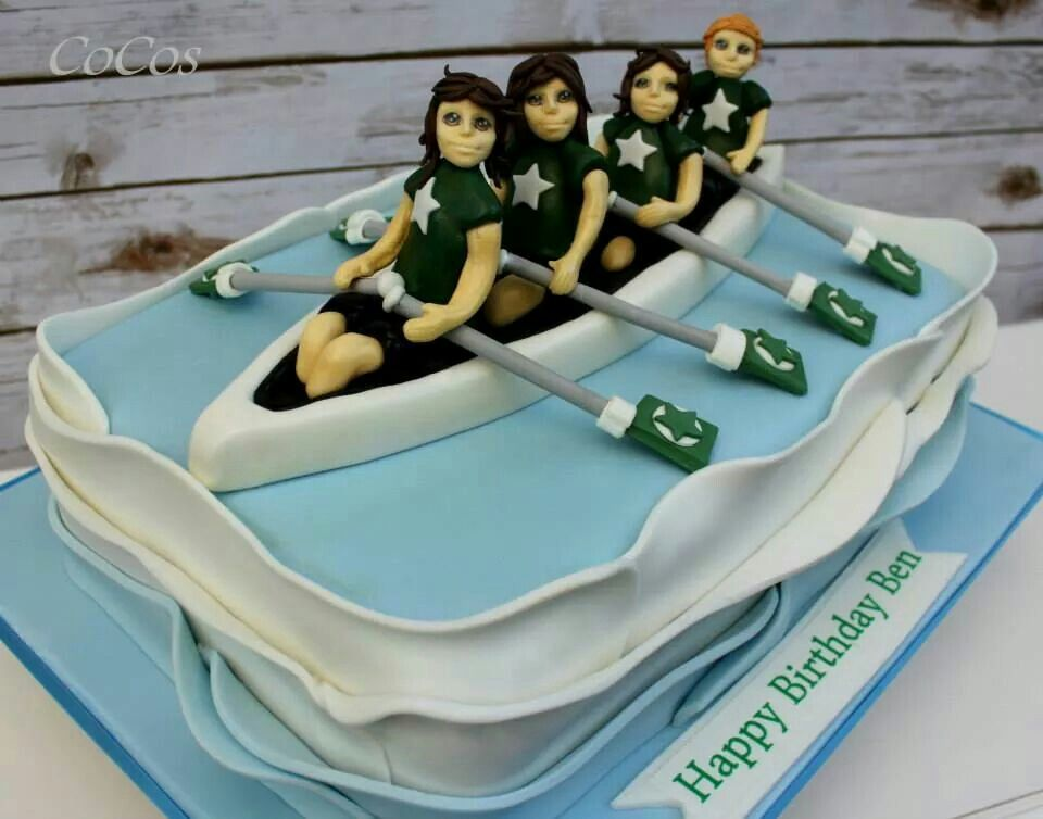 Rowing Boat Team Cake By Cupcakecococom Time To Celebrate - Boat birthday cake ideas