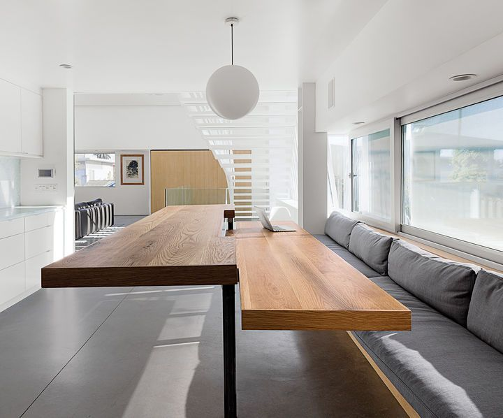 Half Of The Table Can Be Manually Raised To Counter Height Making