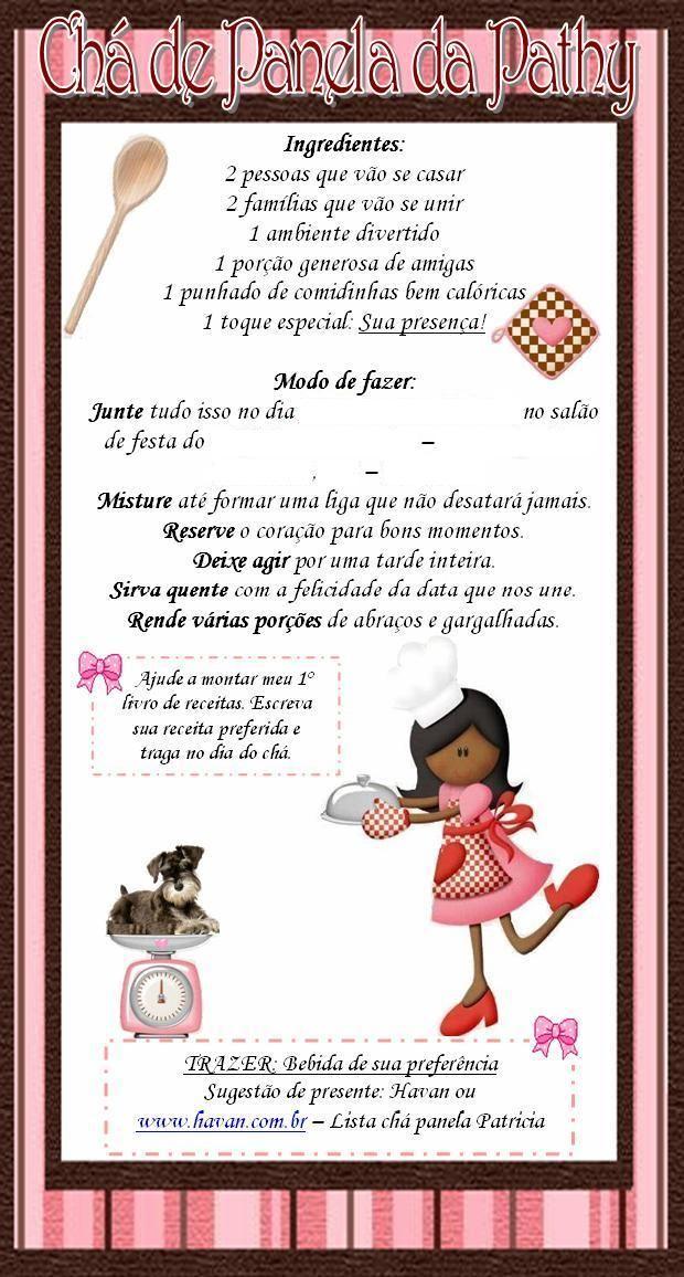 Convite Patrícia Chá Da Noiva 161018b55db