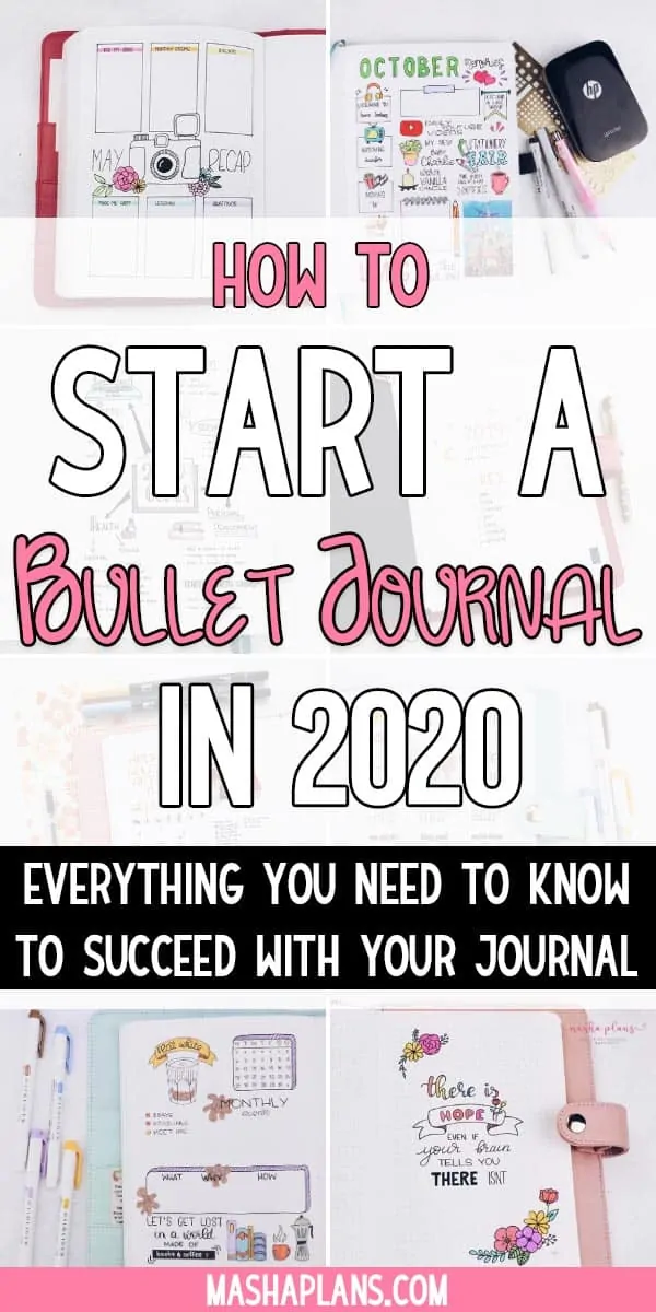 How to start a Bullet Journal in 2020 | Masha Plans