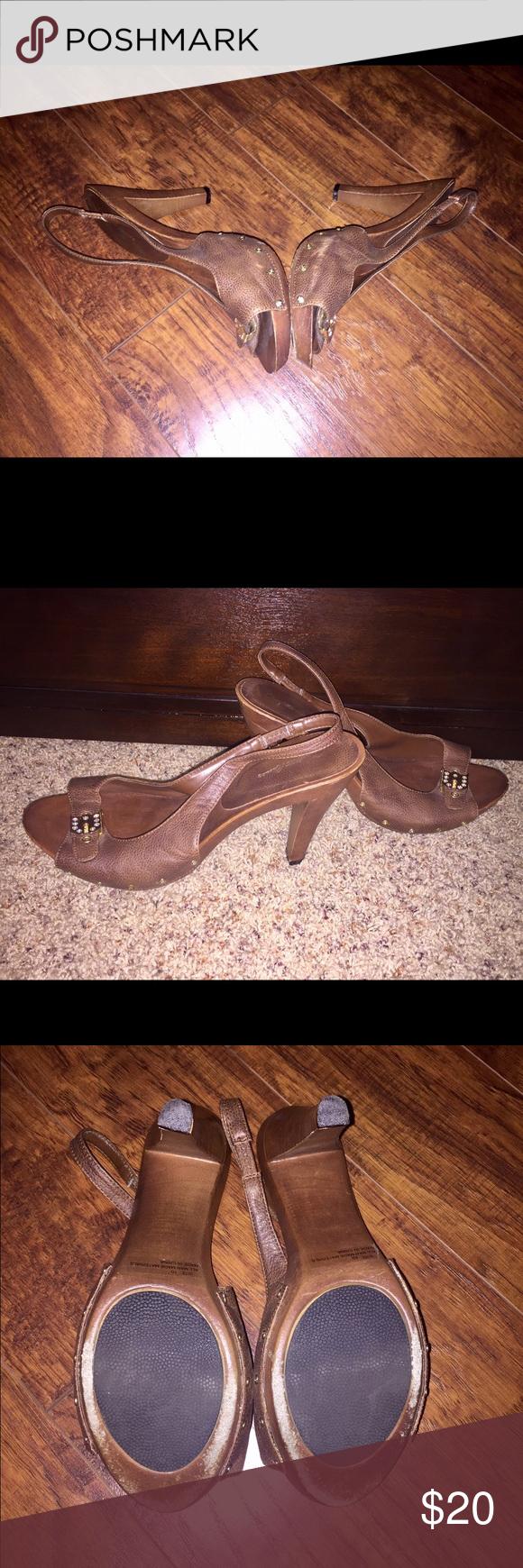 Selling this Charlotte Rouse sling back heels on Poshmark! My username is: kechard. #shopmycloset #poshmark #fashion #shopping #style #forsale #CharlotteRusse #Shoes