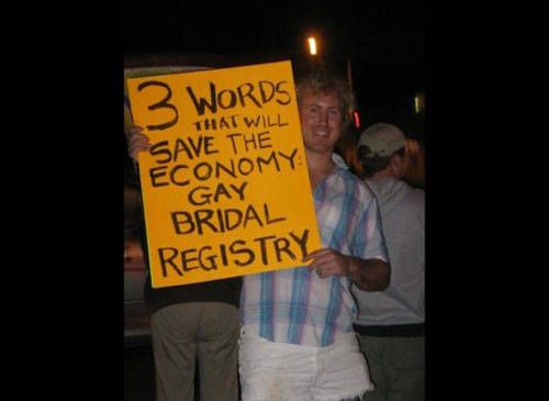 Gay bridal registry