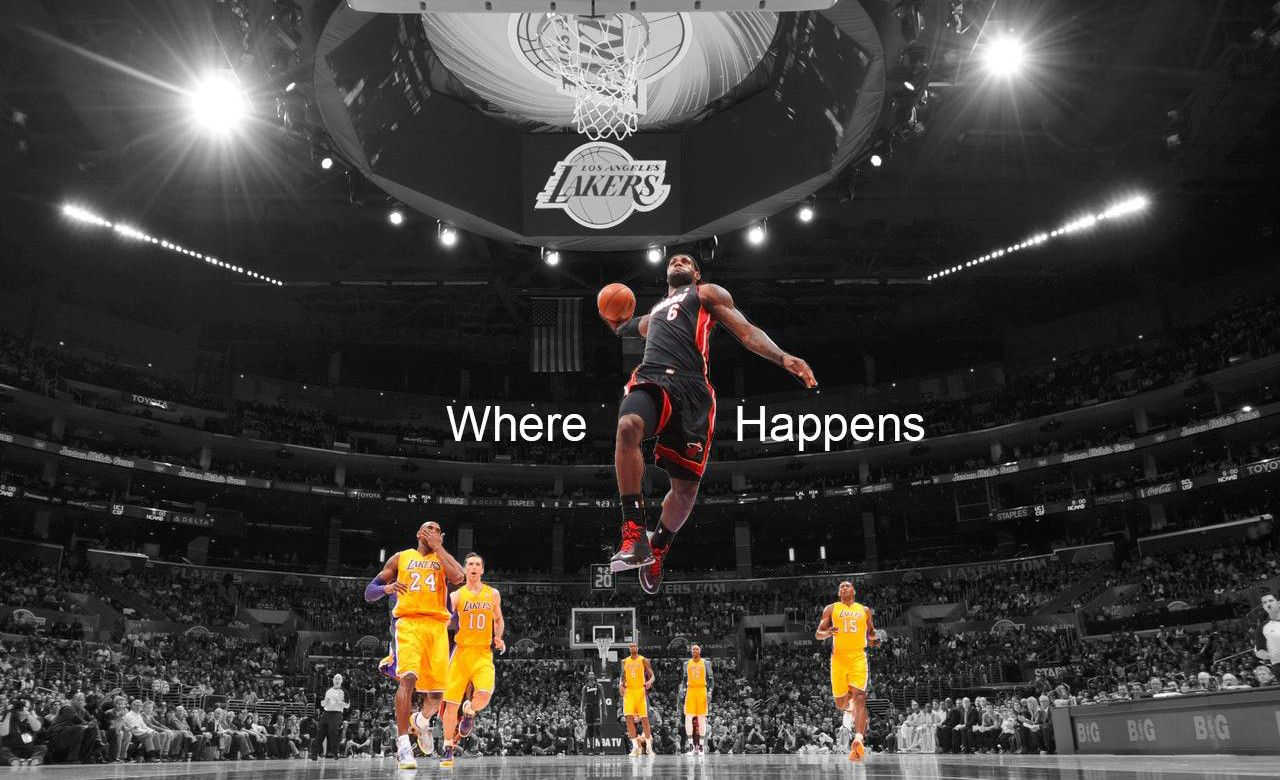 Lebron james miami heat awesome dunk on lakers hd wallpaper lebron james miami heat awesome dunk on lakers hd wallpaper voltagebd Image collections