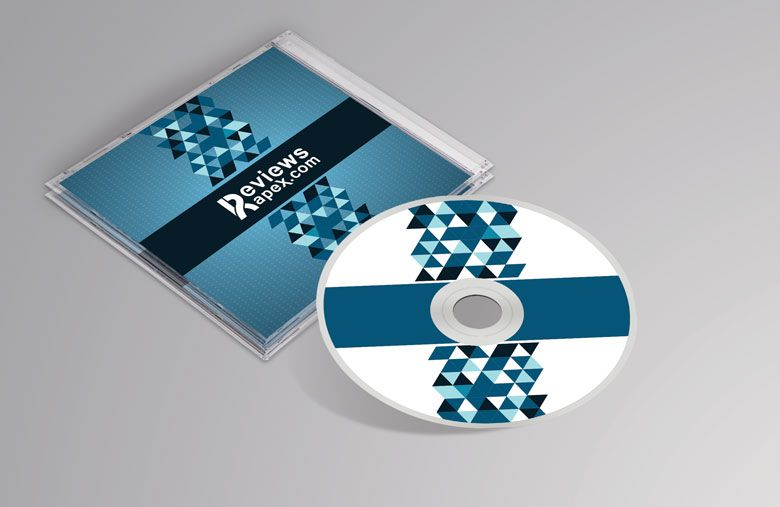 Free Download - Photorealistic CD Cover MockUp Mockups - psd album cover template