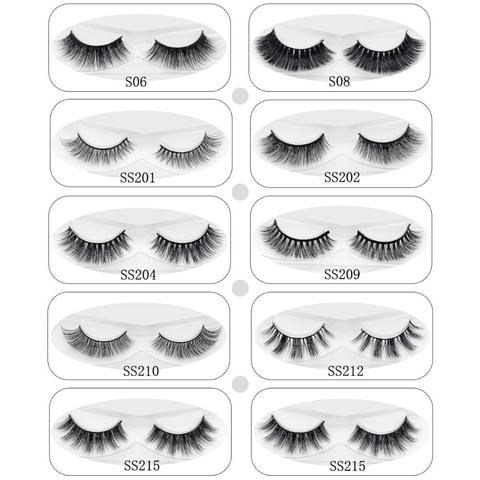 40b257148e6 Lash 3D Mink Lashes Eye Lashes Soft Thick & Natural Long Fake Eyelashes  Extension For Makeup 100% Handmade 9 Styles 1 Pair