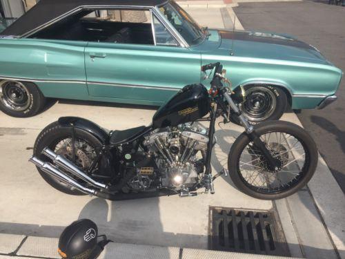1) Harley shovelhead oldschool bobber Shovel Kicker 1200ccm