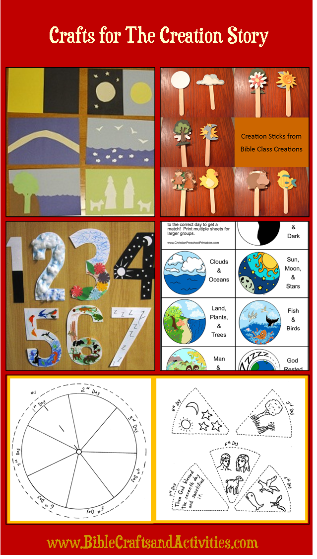 Sunday school crafts for the story of creation www for Bible story crafts for kids