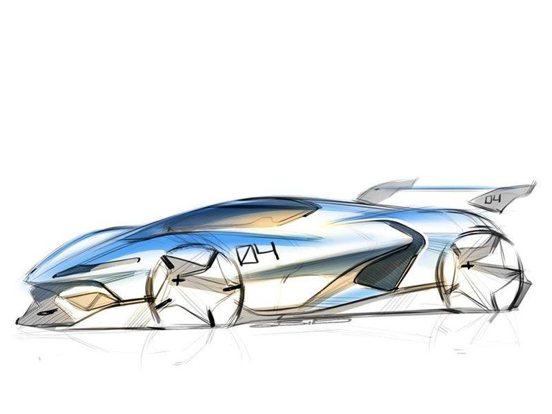 Supercar Design Sketch Side View Race Car Concept Design Sketch Pastel Pencil Industrial Design Digital Sk Car Design Sketch Car Sketch Concept Car Sketch
