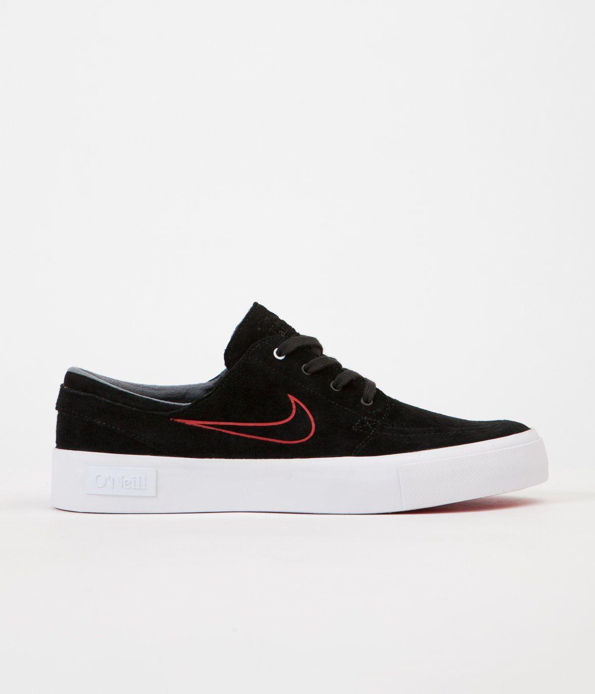 Nike SB Stefan Janoski HT Shane O Neill Shoes - Black   University Red -  White 5a98b2e8501