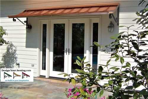 Project Photo Gallery Metal Copper Awnings Copper Gutters Copper Awning Metal Awning Patio Doors
