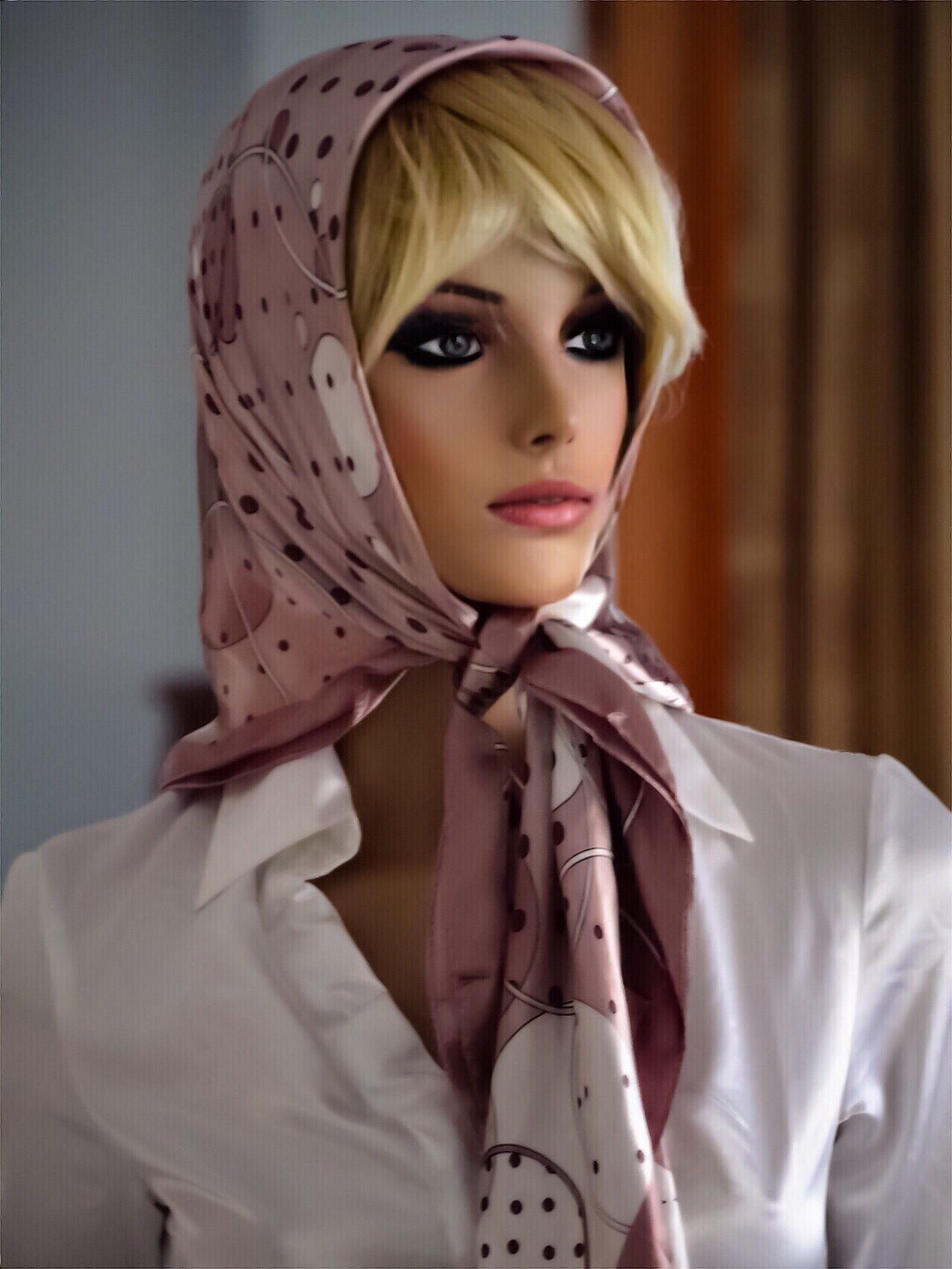 Pin by Thomas Silk on Shawl Head scarf tying, Silk