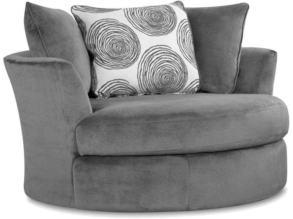Albany Oversized Swivel Chair 529056 Comfortable Accent Chairs Round Swivel Chair Comfy Leather Chair