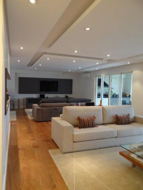 Decora o sala tv e estar ceiling design living room for Cartongesso sala