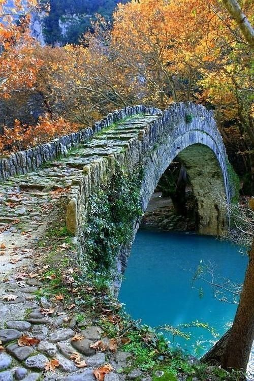 Ancient Stone Bridge, Epirus, Greece Some would say that it looks like something out of a fairy tail