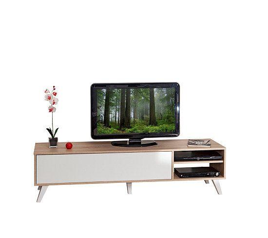 Meuble TV Scandinave COSMOS Chêne et blanc Cosmos