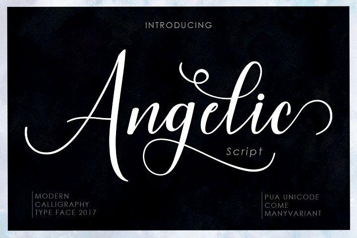 Angelic Script Font | Calligraphy Modern | Modern script font