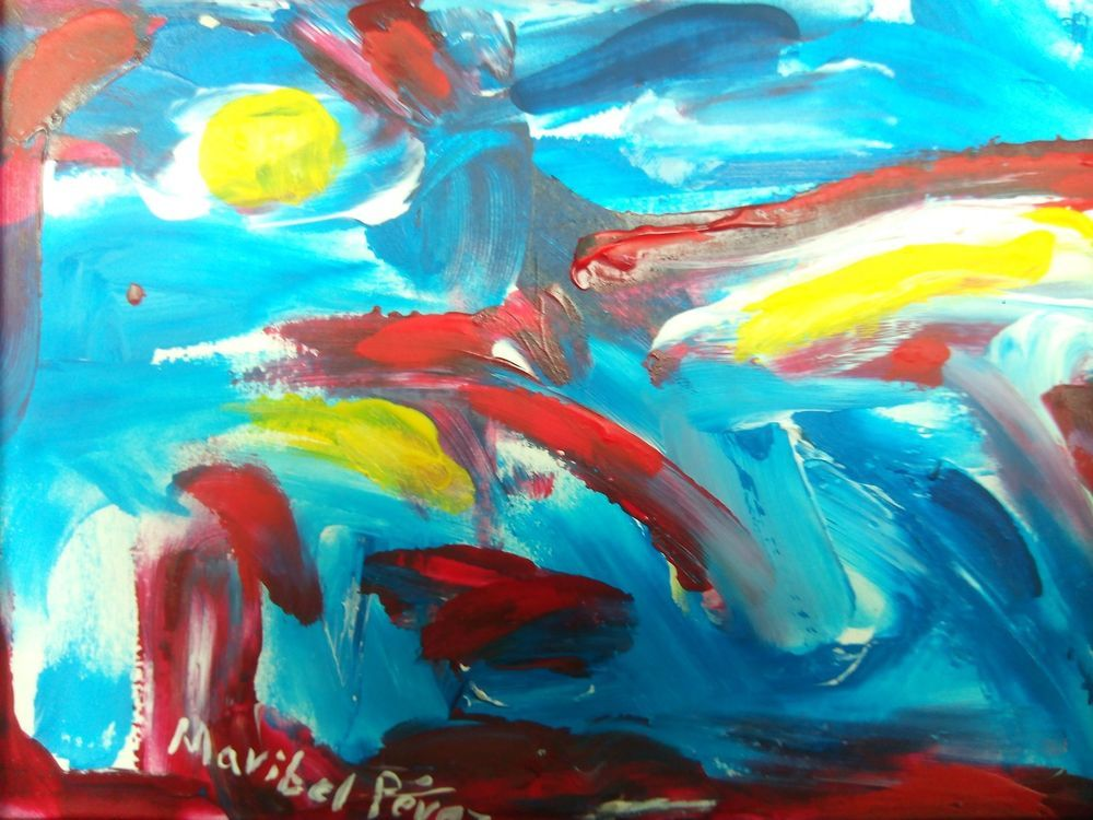 Abstract painting | Expressive art | Caribbean framed art | Home Decor  #Expressionism
