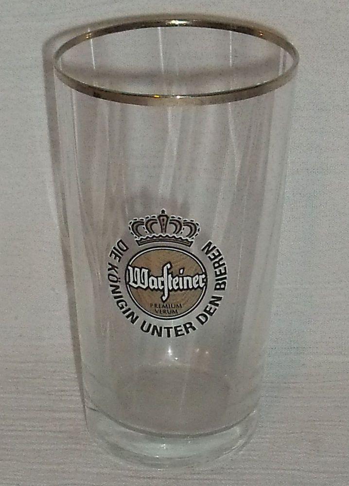 """www.jaedasplaythings.com Warsteiner Beer Tasting Glass 4.25"""" Vtg Gold Logo Advertising Cup #Warsteiner"""
