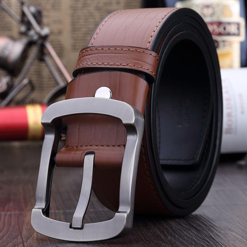 6ee15829e3208 New 2015 fashion man luxury Vintage men's leather belt high quality men  black buckle designer cowskin belts free shipping