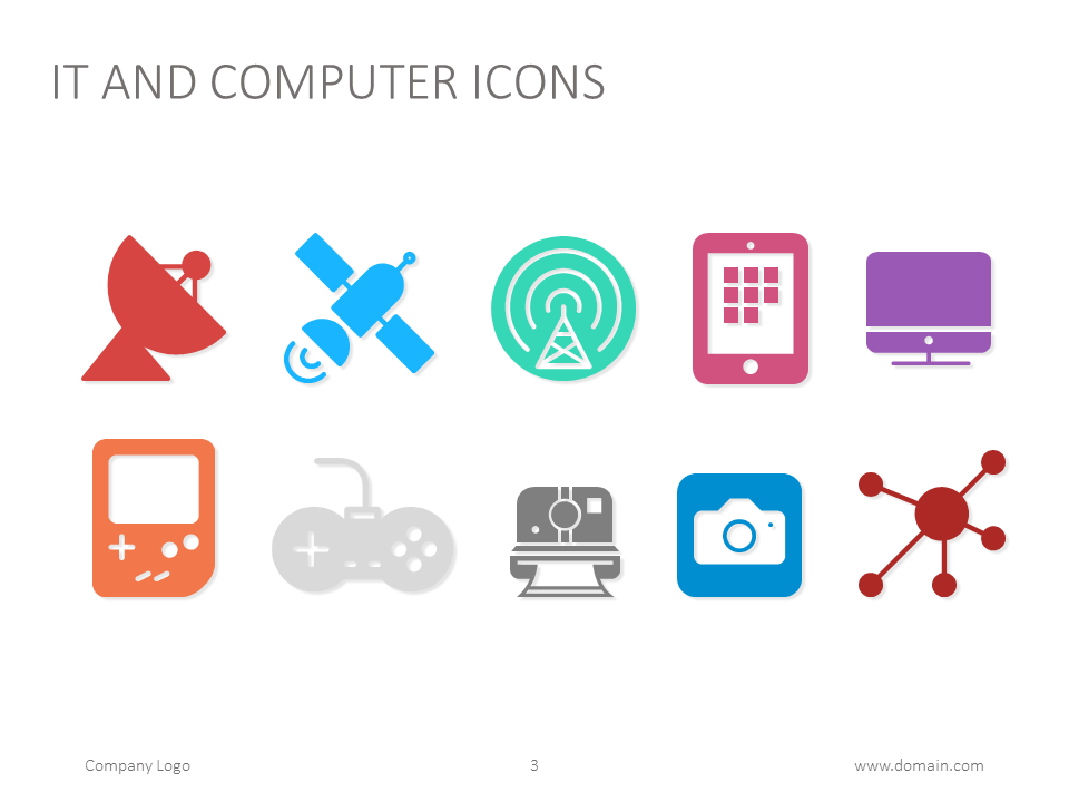 it and computer icons for powerpoint presentations technology