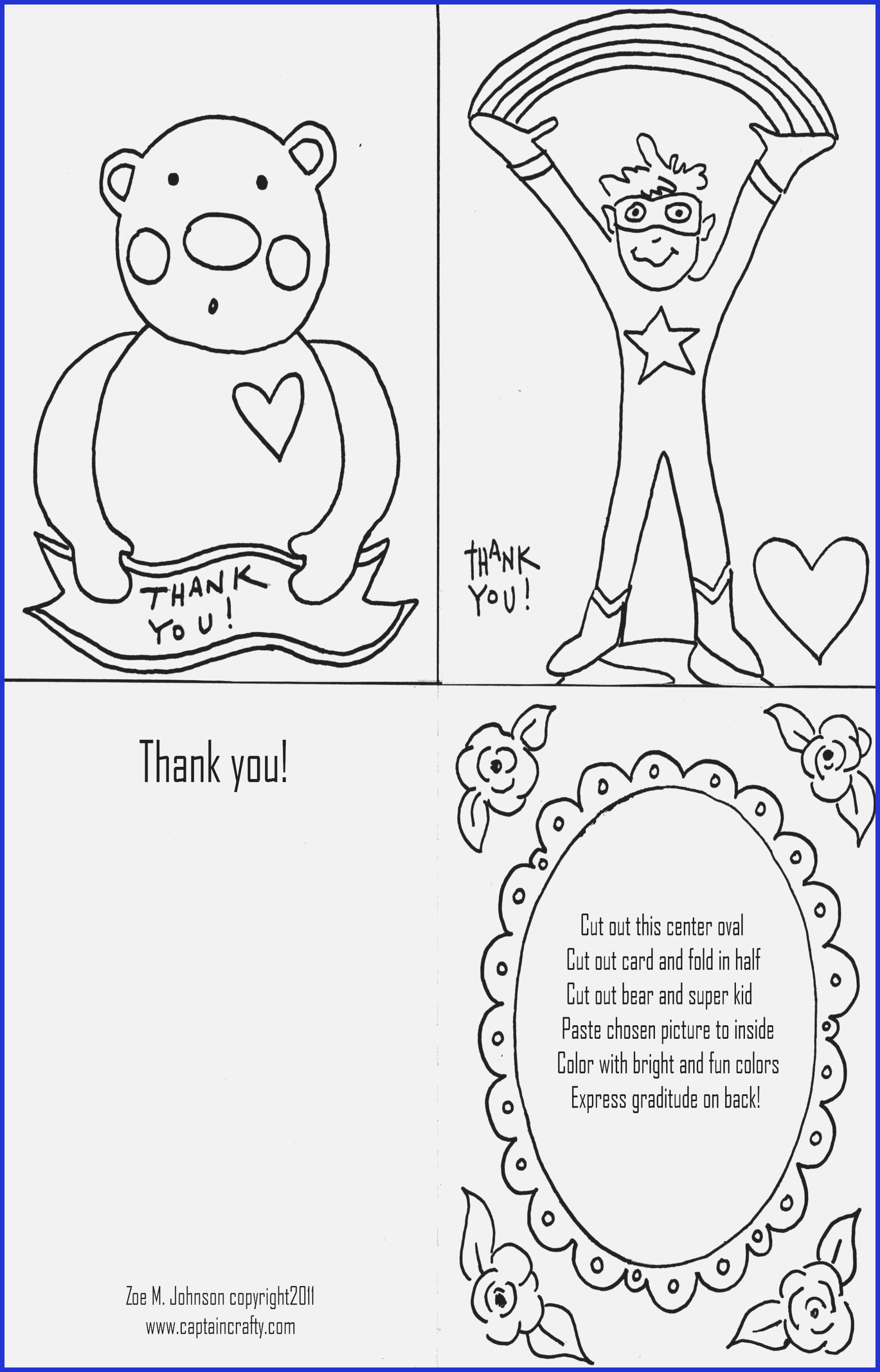 thank you card coloring page Images in 2019 http://www ...