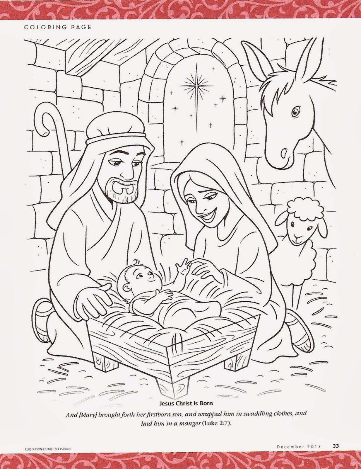 Happy Clean Living Primary 2 Lesson 46 Christmas Lds Coloring