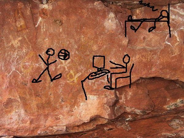 arte rupestre desenho raspado material cartolina branca giz de