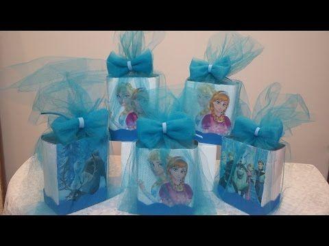 Kit 10 Caixa Milk Frozen 3d Personalizada Lembrancinha