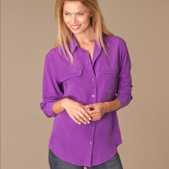 61807e3c38b8d0 Equipment Femme Signature Silk Shirt Equipment Femme Signature Silk Shirt  Like New Size Small not as bright as first 3 pictures Equipment Tops Blouses