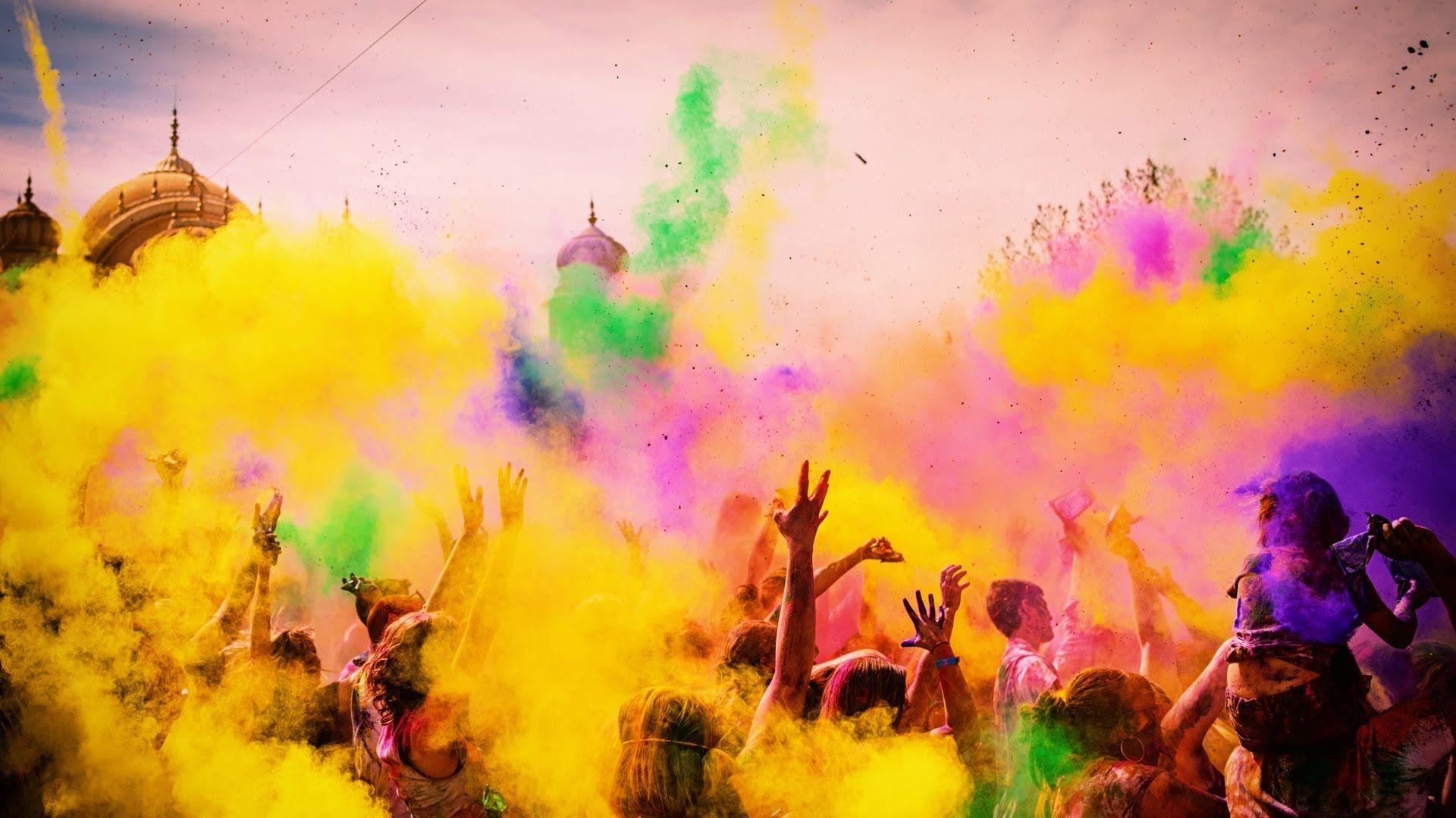 Festival of colors give love inspiring - Animesh wallpaper ...