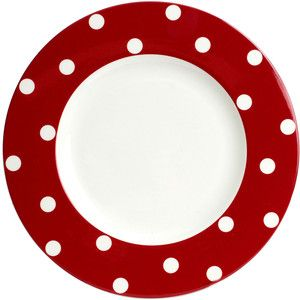 Red Vanilla Freshness Dots Dinner Plate  sc 1 st  Pinterest & Red Vanilla Freshness Dots Dinner Plate | Polka Dots Galore ...