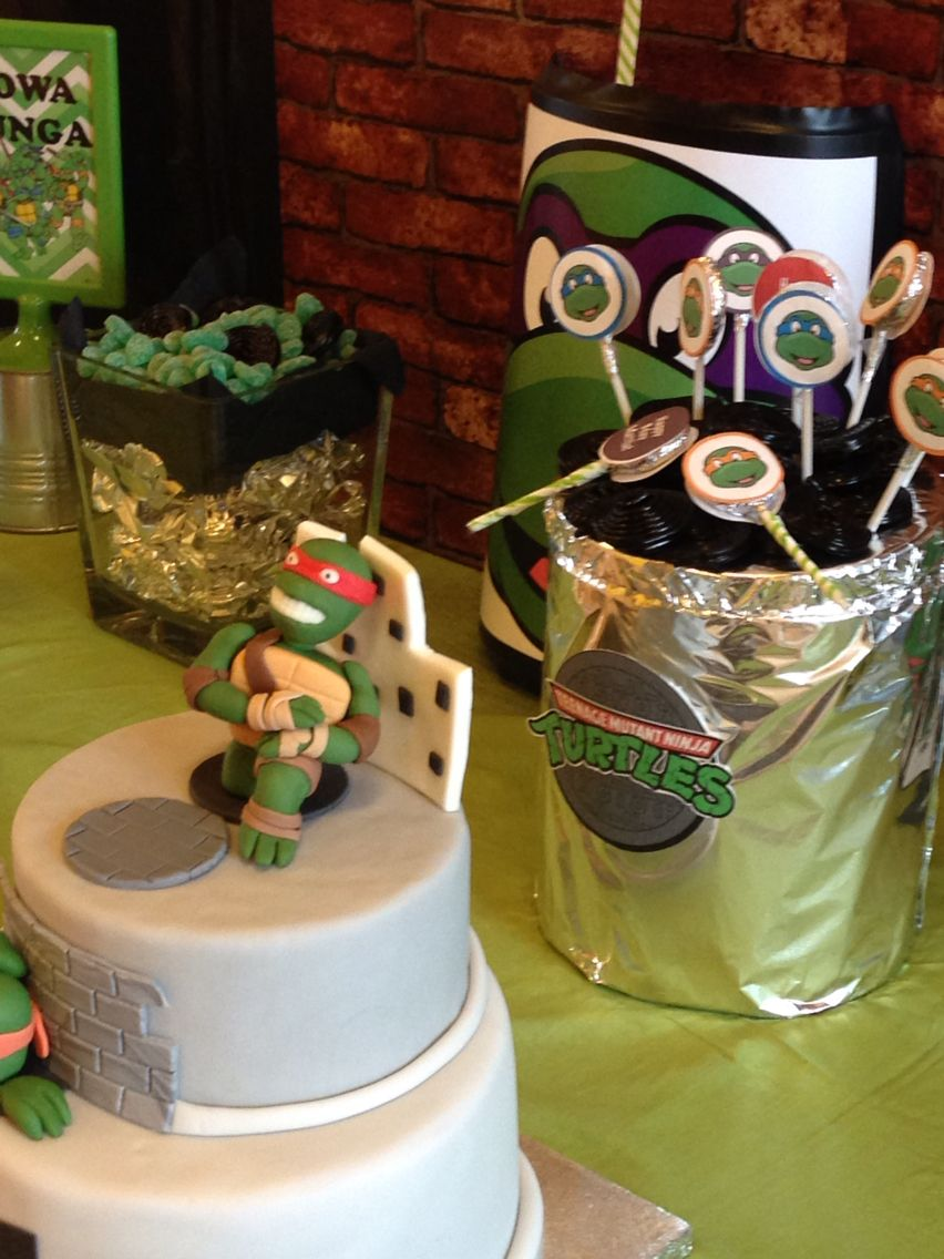 Ninja turtles boy party sweet table ninja turtles boy party