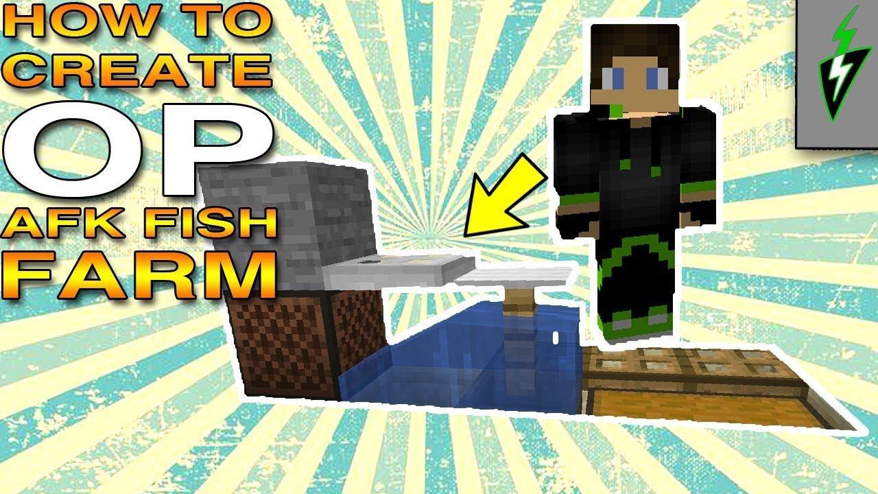Minecraft 10.104 - How to Build an AFK Fish Farm - Minecraft