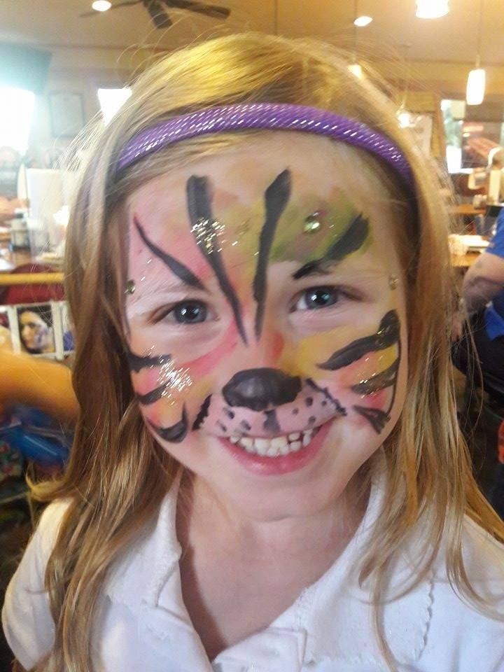 #tigerfacepaint #funfacesballooncreationsfacepaint #ocalafacepaint #pizzahutsilversprings