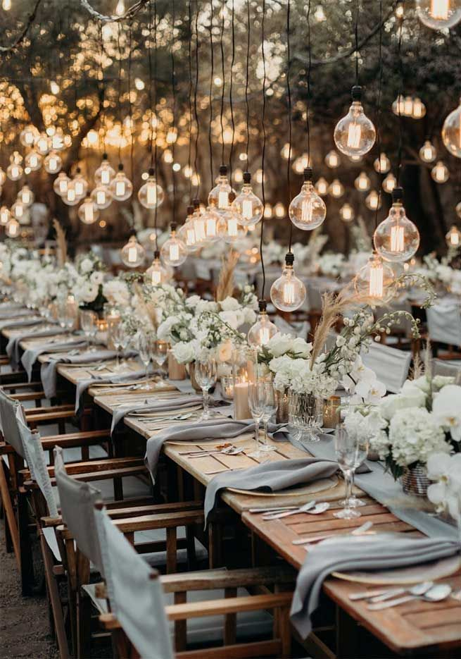 45 Ways To Dress Up Your Wedding Reception Tables 1 - Fab Mood |…