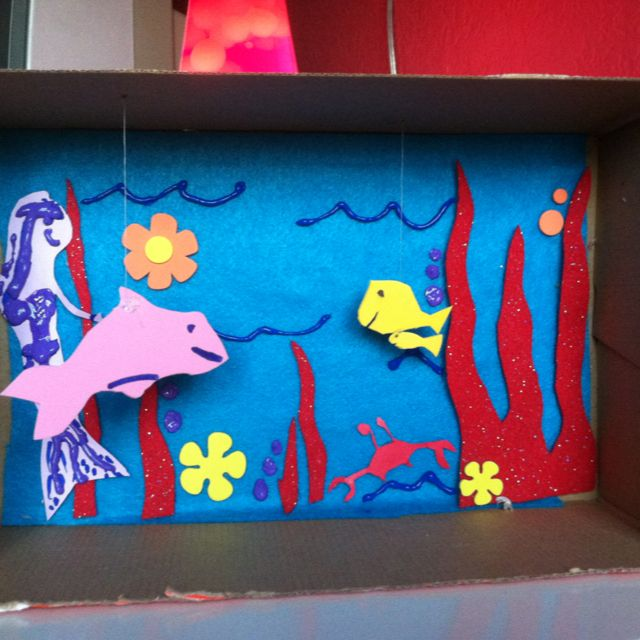 Makin Little Aquariums W The Kids Out Of Shoe Boxes My
