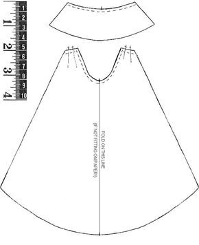 Collar cape and other sewing patterns for Halloween