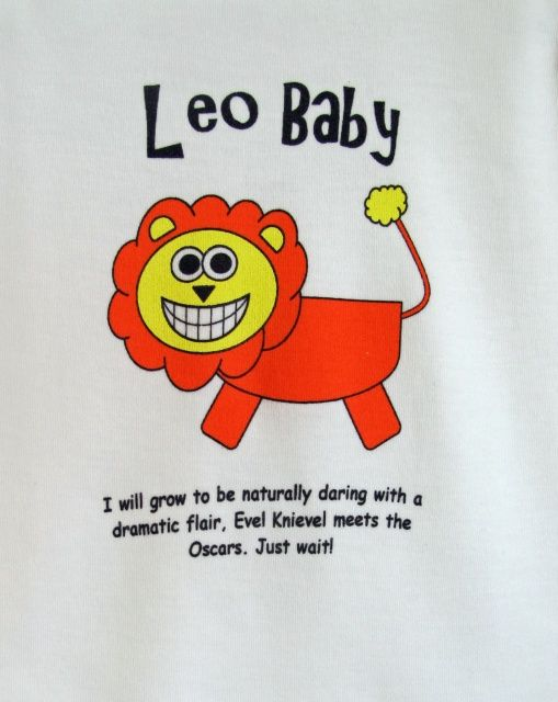 e89bcee79 Leo Baby Onesie zoomed in   Lions   Baby, Baby kids, Onesies