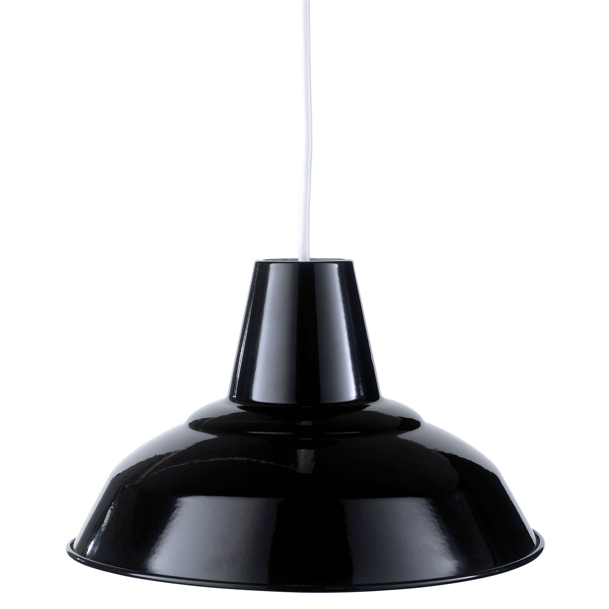 tezz black gloss pendant light shade d 290mm black pendant light