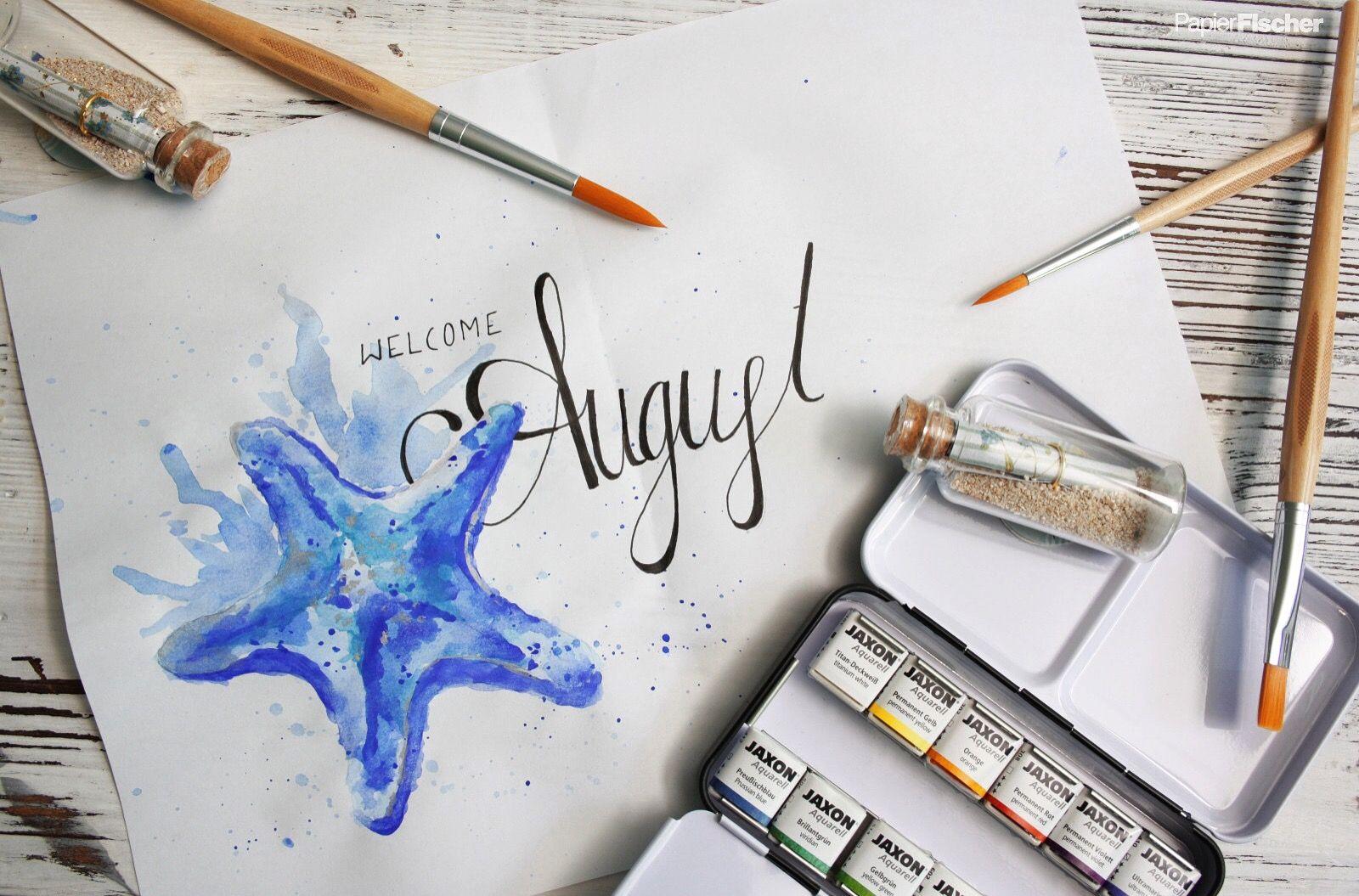 August Lettering Brushlettering Letters Handlettering Summer
